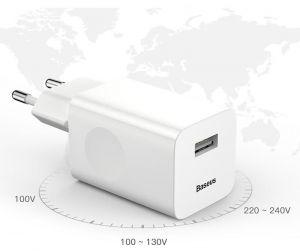 Сетевое зарядное устройство Baseus Charging Quick Charger EU White (CCALL-BX02)