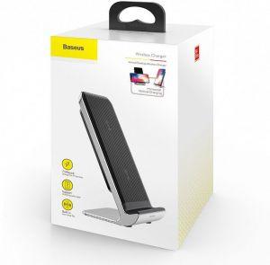 Беспроводное зарядное устройство Baseus Vertical Desktop Wireless Charger Black (WXLS-01)