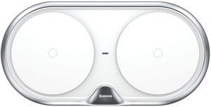 Беспроводное зарядное устройство (10W) Baseus Dual Wireless Charger Silver (WXXHJ-A0S)