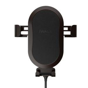 Автомобильный держатель с беспроводным зарядным устройством iWalk Lucanus Air Black (CML001)