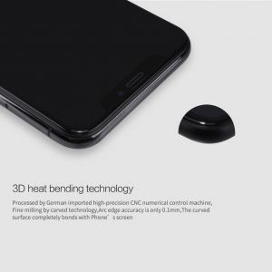 "Защитное 3D-стекло для iPhone X / XS (5.8"") Nillkin Anti-Explosion Glass Screen Black (CP+ max 3D)"