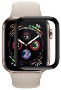 Защитное 3D-стекло для Apple Watch 44mm (Серия 4/5) Coteetci Full Glue Glass 0.1mm Black (CS2216-44)