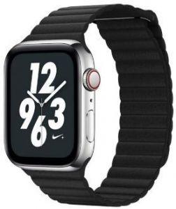 Ремешок из искусственной кожи для Apple Watch 38mm (Серия 1/2/3) / 40mm (Серия 4/5) Coteetci W7 Leather Magnet Band Black (WH5205-BK)