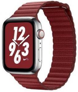 Ремешок из искусственной кожи для Apple Watch 38mm (Серия 1/2/3) / 40mm (Серия 4/5) Coteetci W7 Leather Magnet Band Red (WH5205-RD)