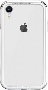 Стеклянный чехол для iPhone XR (6.1'') Switcheasy iGlass Case Silver (GS-103-45-170-26)