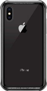 Стеклянный чехол для iPhone XS MAX (6.5'') Switcheasy iGlass Case Black (GS-103-46-170-11)