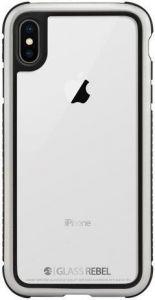 Стеклянный чехол для iPhone XS MAX (6.5'') Switcheasy Glass Rebel Case Metal Silver (GS-103-46-173-96)