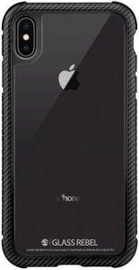 Стеклянный чехол для iPhone XS MAX (6.5'') Switcheasy Glass Rebel Case Carbon Black (GS-103-46-173-98)