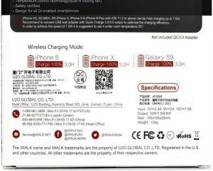 Беспроводное зарядное устройство iWalk Wireless Charger Black (ADS009)