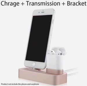 Док-станция для iPhone и Apple AirPods COTEetCI Base22 Airpods & iPhone Silver (CS7205-TS)