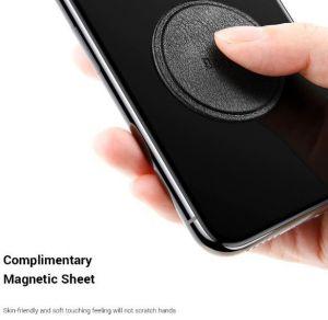 Автомобильный держатель (до 7'') Baseus Star Ring Magnetic Car Bracket (Paste type) Black (SUGENT-HQ01)