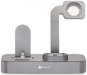 Док-станция для iPhone и Apple AirPods COTEetCI Base19 Stand Grey (CS7201-GY)