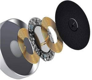 Беспроводное зарядное устройство для iPhone и Apple Watch COTEetCI WS-17 2-in-1 Wireless Charger Silver (CS5168-TS)