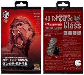 Защитное 3D-стекло (антишпион) для iPhone XS Max / 11 Pro Max (6.5'') WK Design Kingkong 4D Curved Tempered Glass Privacy Black (WTP-012)