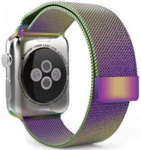 Ремешок со стальным миланским плетением для Apple Watch 42mm (Серия 1/2/3) / 44mm (Серия 4/5) COTEetCI W6 Magnet Band Dazzle Colour (WH5203-XC)