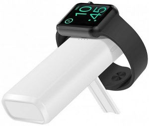 Внешний аккумулятор для Apple Watch 5/4/3/2/1 COTEetCI PB-2 Wireless Charger Powerbank 5200mAh White (PB5119-WH)