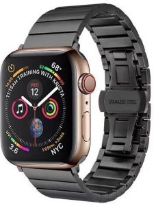 Металлический ремешок для Apple Watch 42mm (Серия 1/2/3) / 44mm (Серия 4/5) COTEetCI W25 Steel Band Black (WH5238-BK)