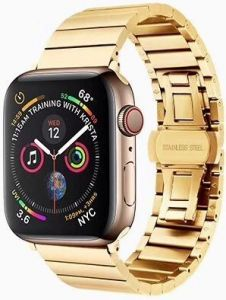 Металлический ремешок для Apple Watch 42mm (Серия 1/2/3) / 44mm (Серия 4/5) COTEetCI W25 Steel Band Gold (WH5238-GD)