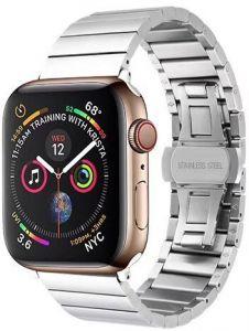 Металлический ремешок для Apple Watch 42mm (Серия 1/2/3) / 44mm (Серия 4/5) COTEetCI W25 Steel Band Silver (WH5238-TS)