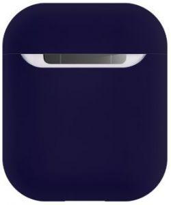 Силиконовый чехол для зарядного кейса AirPods 2/1 COTEetCI Airpods Liquid Silicone Case Blue (CS8135-BL)