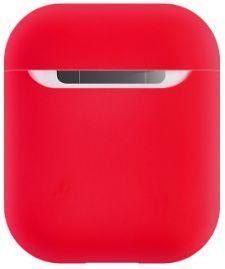 Силиконовый чехол для зарядного кейса AirPods 2/1 COTEetCI Airpods Liquid Silicone Case Red (CS8135-RD)