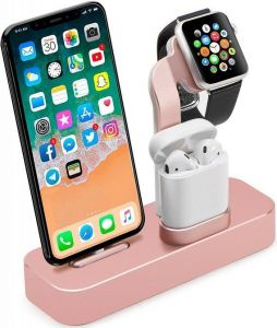 Док-станция для iPhone и Apple AirPods COTEetCI Base19 Stand Rose Gold (CS7201-MRG)