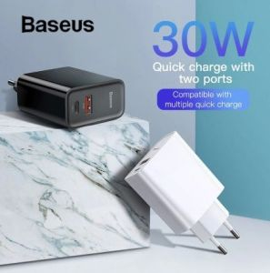 Сетевое зарядное устройство (30W) для телефона и ноутбука Baseus Speed PPS Quick charger C+U EU Black (CCFS-C01)