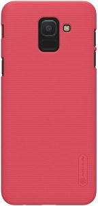 Чехол для Samsung Galaxy J6 2018 (J600) Nillkin Super Frosted Shield Red (+ пленка)
