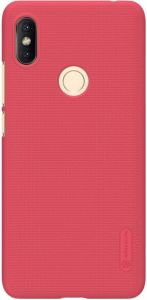 Чехол для Xiaomi Redmi S2 Nillkin Super Frosted Shield Красный (+ пленка)