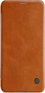 Кожаный чехол (книжка) для Samsung A605 Galaxy A6 Plus (2018) Nillkin Qin Series Коричневый