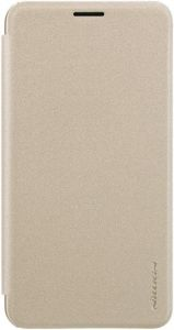 Чехол (книжка) для Samsung J400 Galaxy J4 (2018) Nillkin Sparkle Series Золотой