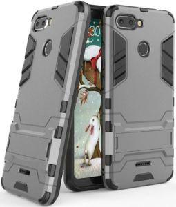 Ударопрочный чехол-подставка для Xiaomi Redmi 6 Transformer Gun Metal