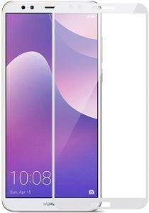 Защитное стекло для Huawei Y7 Prime (2018) / Honor 7C Pro Mocolo (full glue) на весь экран Белое