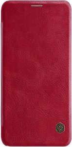 Кожаный чехол для Samsung Galaxy J8 (2018) Nillkin Qin Series Red