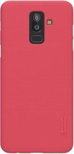 Чехол для Samsung Galaxy J8 (2018) Nillkin Super Frosted Shield Red (+ пленка)