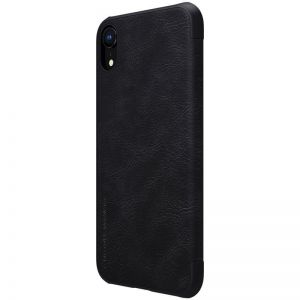 Кожаный чехол для iPhone XR (6.1'') Nillkin Qin Series Black