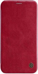 "Кожаный чехол для iPhone XR (6.1"") Nillkin Qin Series Red"