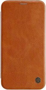 Кожаный чехол для iPhone XS Max (6.5'') Nillkin Qin Series Brown