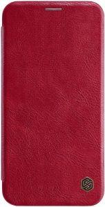 Кожаный чехол для iPhone XS Max (6.5'') Nillkin Qin Series Red