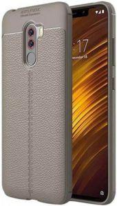 Чехол iPaky Litchi Series для Xiaomi Pocophone F1 Серый