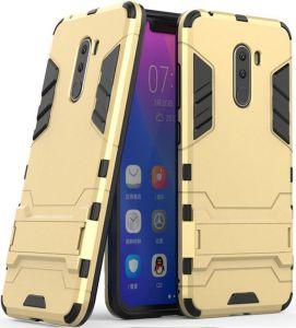 Ударопрочный чехол-подставка Transformer для Xiaomi Pocophone F1 Золотой / Champagne Gold