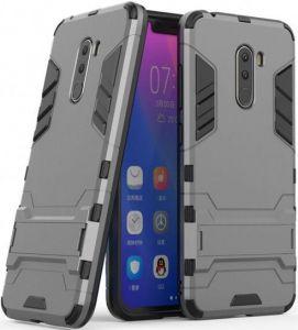Ударопрочный чехол-подставка Transformer для Xiaomi Pocophone F1 Металл / Gun Metal