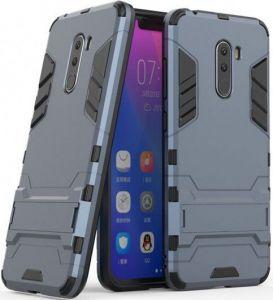 Ударопрочный чехол-подставка Transformer для Xiaomi Pocophone F1 Серый / Metal slate
