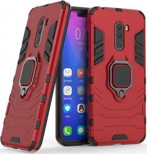 Ударопрочный чехол Transformer Ring под магнитный держатель для Xiaomi Pocophone F1 Красный / Dante Red