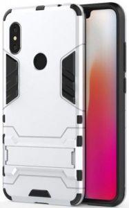 Ударопрочный чехол-подставка Transformer для Xiaomi Redmi Note 6 Pro Серебряный / Silver