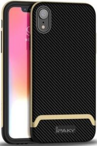 Чехол для iPhone XR (6.1'') iPaky TPU+PC Black/Gold