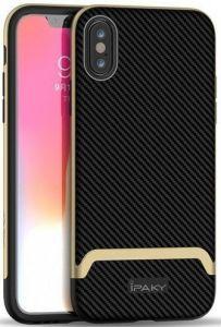 Чехол для iPhone XS Max (6.5'') iPaky TPU+PC Black/Gold