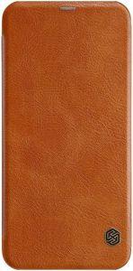 Кожаный чехол (книжка) Nillkin Qin Series для Samsung J610 Galaxy J6+ (2018) Коричневый