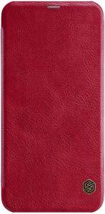 Кожаный чехол (книжка) Nillkin Qin Series для Samsung J610 Galaxy J6+ (2018) Красный