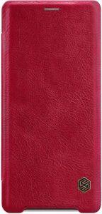Кожаный чехол (книжка) Nillkin Qin Series для Sony Xperia XZ3 (H9436) Красный